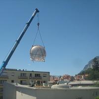Bild zum Weblog Das Adventhaus bekommt eine neue Lichtkuppel