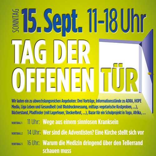 Bild zum Weblog Tag der offenen Tür in der Adventgemeinde Steyr