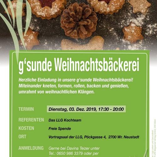 Bild zum Weblog g'sunde Weihnachtsbäckerei